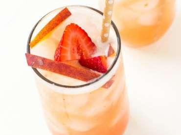 Клубнично-персиковый чай